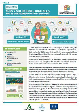 Boletin Apps y soluciones digitales para el envejecimiento saludable