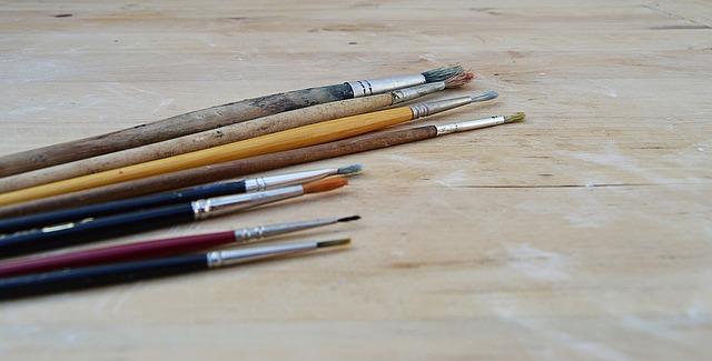 Imagen de pinceles de pintor