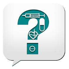 Icono de pregunta salud